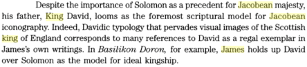 Royal Subjects: Essays on the Writings of James VI and I By Daniel Fischlin, Mark Fortier, PG 421