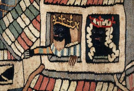 'black king and queen european wild men and the moors tapestry weave