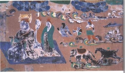 mogao cave painting black aryans
