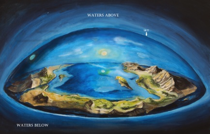 genesis creation flat earth diagram