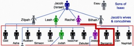 Jacob Israel family tree amongst 4 wives