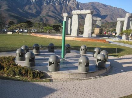 korea sundial stonehenge museum