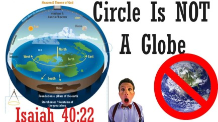 isaiah 40:22 circle is not a globe sphere