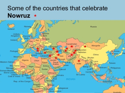 nowruz countries that celebrate map
