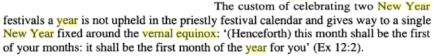 Origin and Transformation of the Ancient Israelite Festival Calendar, By Jan A. Wagenaar, PG 124