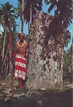 A Polynesian Menhir (standing stone)