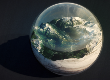 earth glass ball