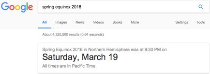 spring equinox 2016 google search