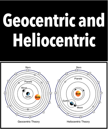 geocentric and heliocentric