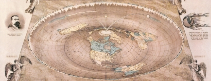 flat earth square and compass